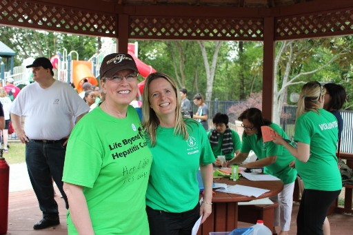 Connie met Melissa, one of the amazing coordinator's for the Southwest Region, ALF, Liver Life Walk.